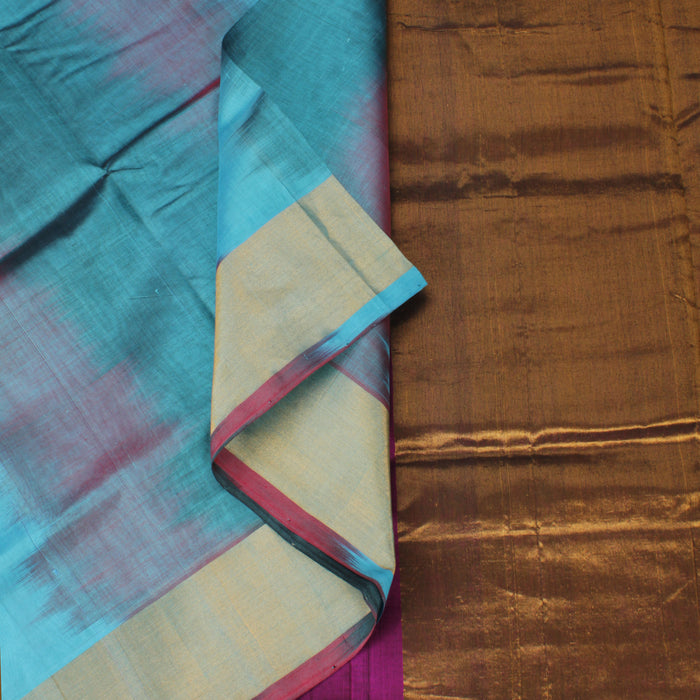 Sarangi Handwoven Silk-Cotton Sari - 1302515PUR