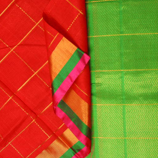 Sarangi Handwoven Silk-Cotton Sari - 1302524ORA
