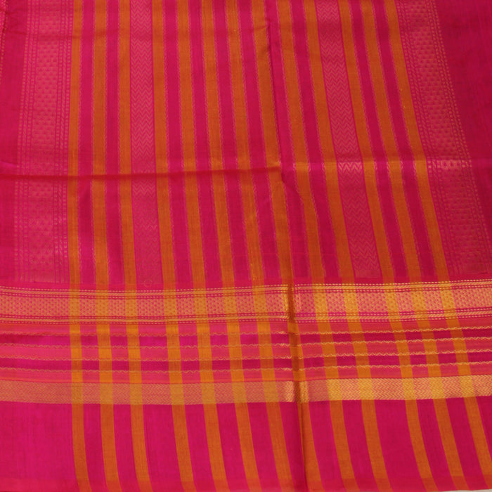 Sarangi Handwoven Silk-Cotton Sari - 1302539GRE