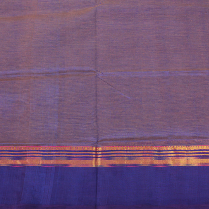 Sarangi Handwoven Silk-Cotton Sari - 1363177BLU