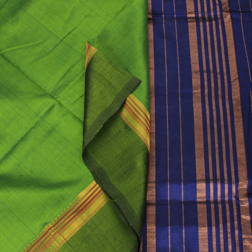 Sarangi Handwoven Silk-Cotton Sari - 1363178GRE