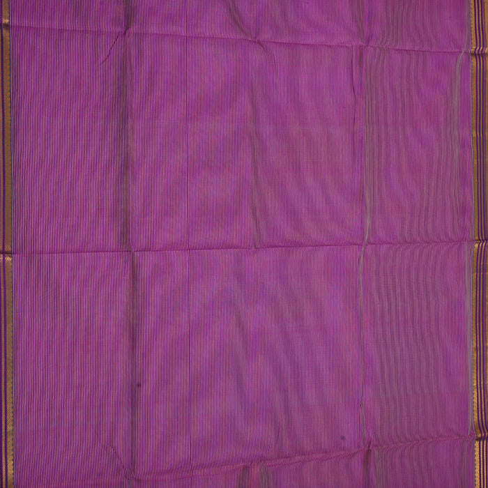 Sarangi Handwoven Silk-Cotton Sari - 1363193PUR