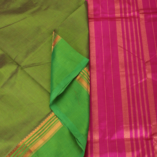 Sarangi Handwoven Silk-Cotton Sari - 1363196TTO