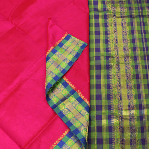 Sarangi Handwoven Silk-Cotton Sari - 1363238PIN