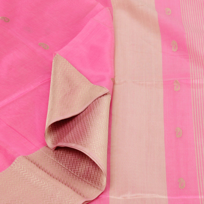 Sarangi Handwoven Silk-Cotton Sari - 1403712PIN
