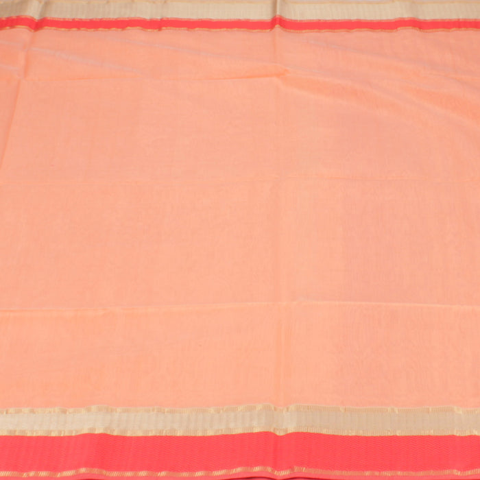 Sarangi Handwoven Silk-Cotton Sari - 1403724PEA