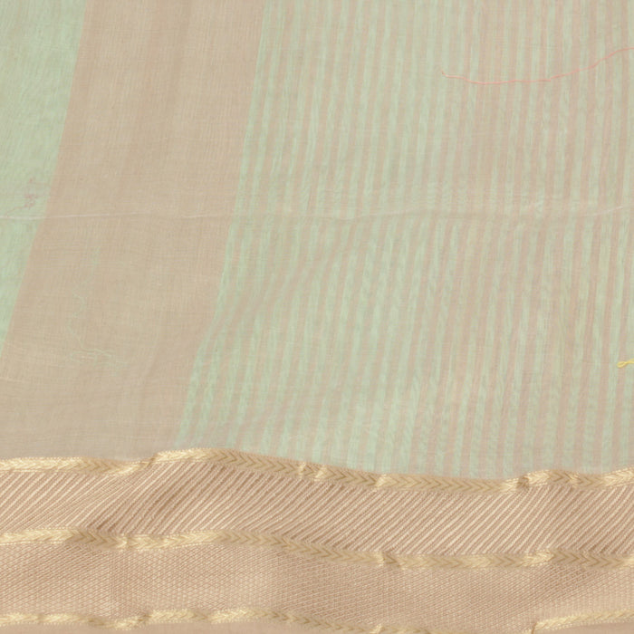 Sarangi Handwoven Silk-Cotton Sari - 1403751GRE