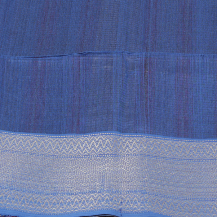 Sarangi Handwoven Maheshwari Silk-Cotton Saree - 1403766MAR