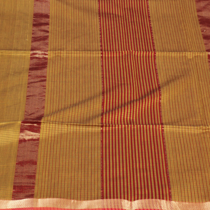 Sarangi Handwoven Maheshwari Silk-Cotton Saree - 1403768GRE
