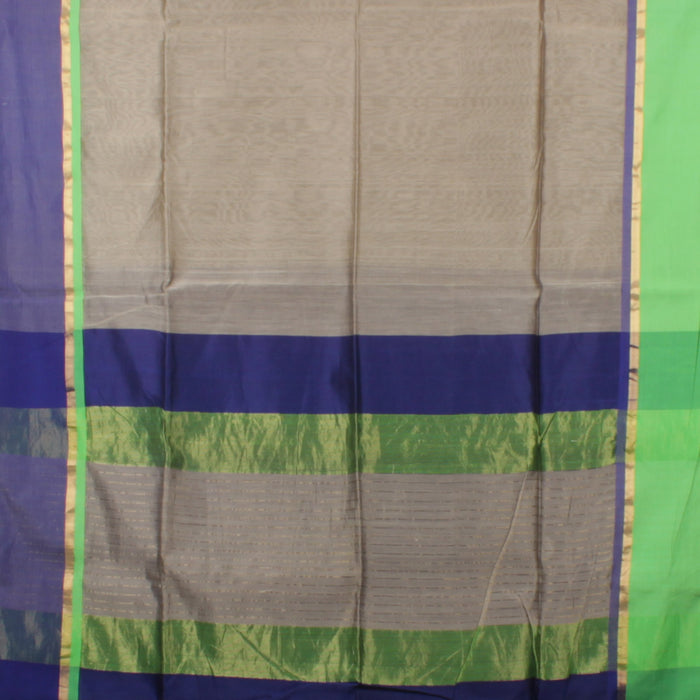 Sarangi Handwoven Maheshwari Silk-Cotton Saree - 1403771GRA