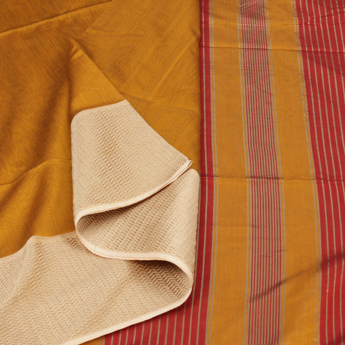 Sarangi Handwoven Silk-Cotton Sari - 1403792MUS