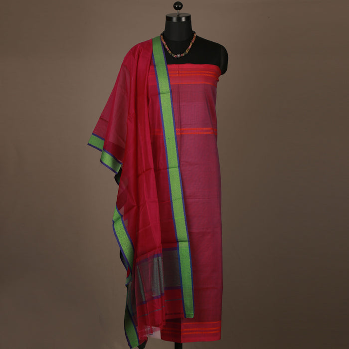Sarangi Handwoven Maheshwari Silk-Cotton Suit - 1403893MAG