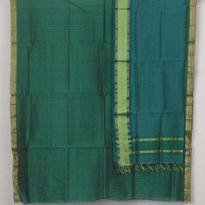 Sarangi Handwoven Maheshwari Silk-Cotton Suit - 1403895GRE