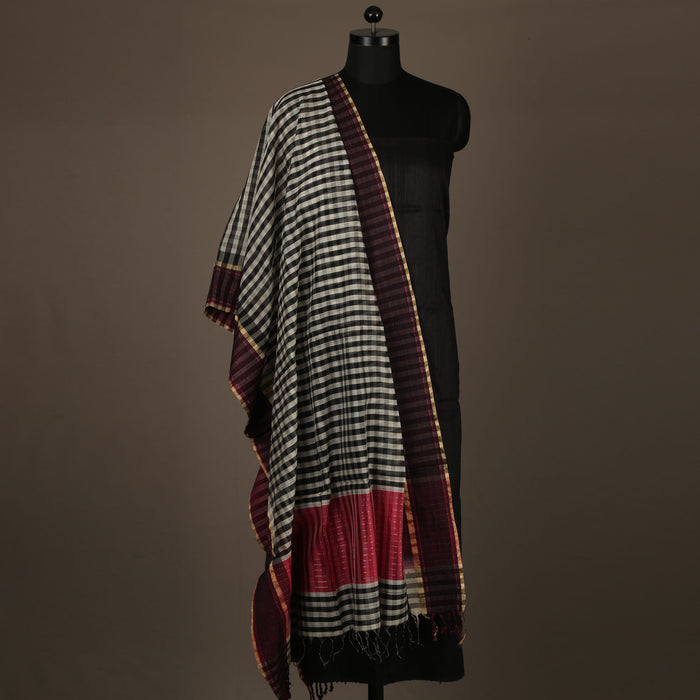 Sarangi Handwoven Maheshwari Silk-Cotton Suit - 1403897BLA
