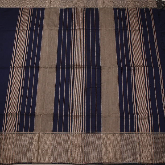 Sarangi Handwoven Maheshwari Silk-Cotton Saree - 1404118BLU