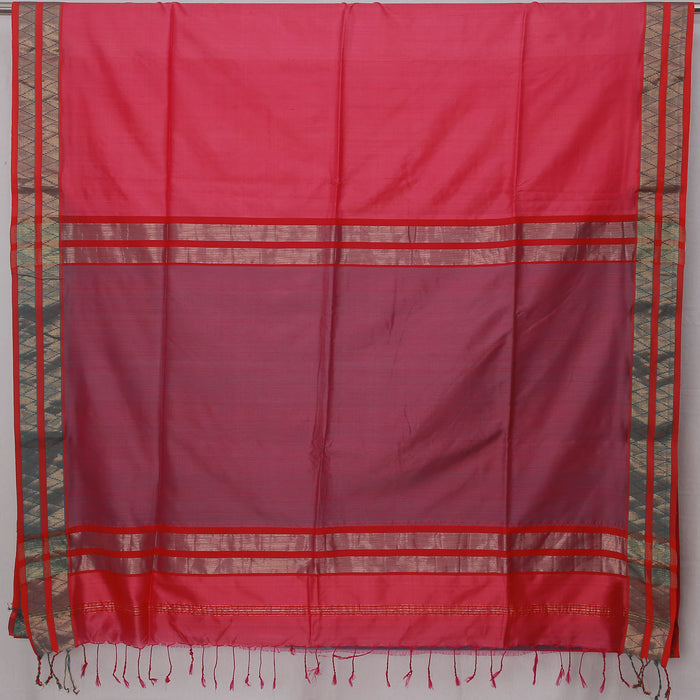 Sarangi Handwoven Maheshwari Silk-Cotton Saree - 1404123PIN