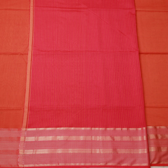 Sarangi Handwoven Maheshwari Silk-Cotton Saree - 1404131ORA