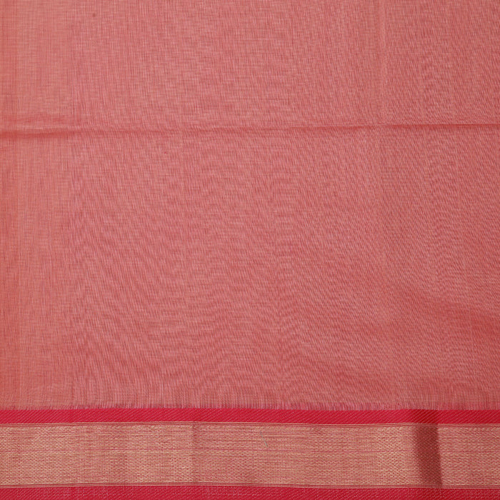 Sarangi Handwoven Maheshwari Silk-Cotton Saree - 1404137PEA