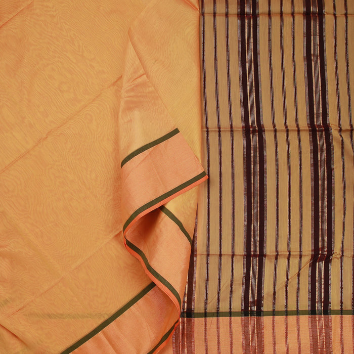 Sarangi Handwoven Maheshwari Silk-Cotton Saree - 1404140MUS