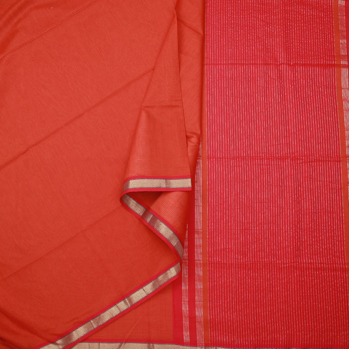 Sarangi Handwoven Maheshwari Silk-Cotton Saree - 1404144ORA
