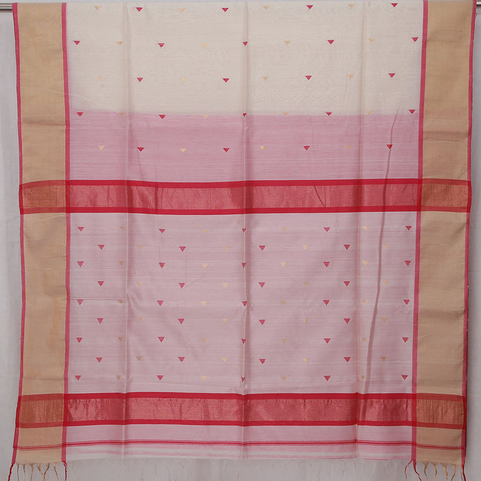 Sarangi Handwoven Maheshwari Silk-Cotton Saree - 1404156OWH