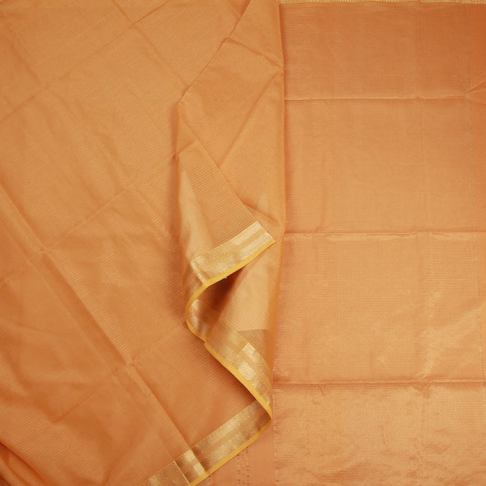 Sarangi Handwoven Maheshwari Silk-Cotton-Tissue Saree - 1404199TTO