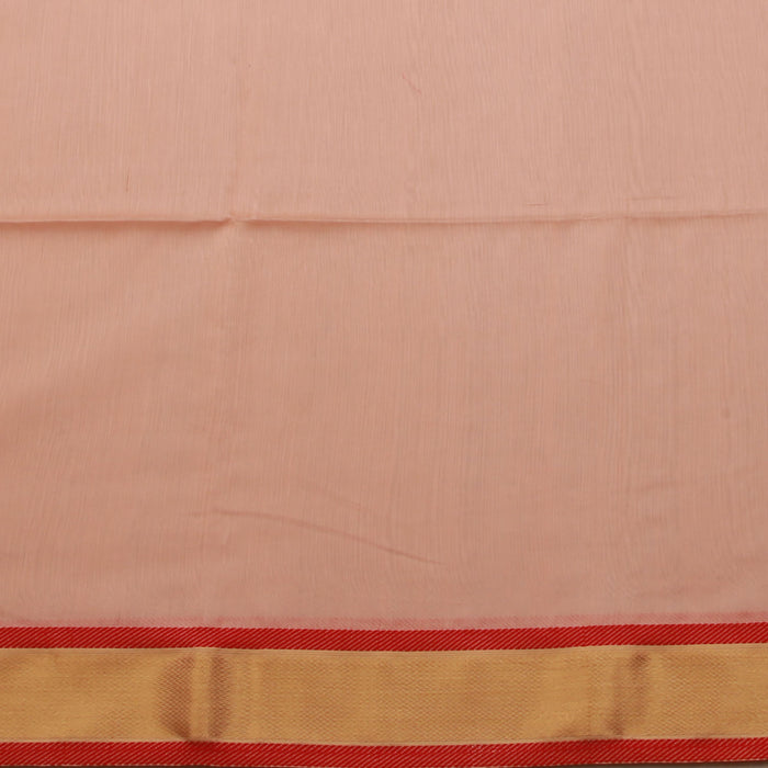 Sarangi Handwoven Maheshwari Silk-Cotton Saree - 1404988PEA