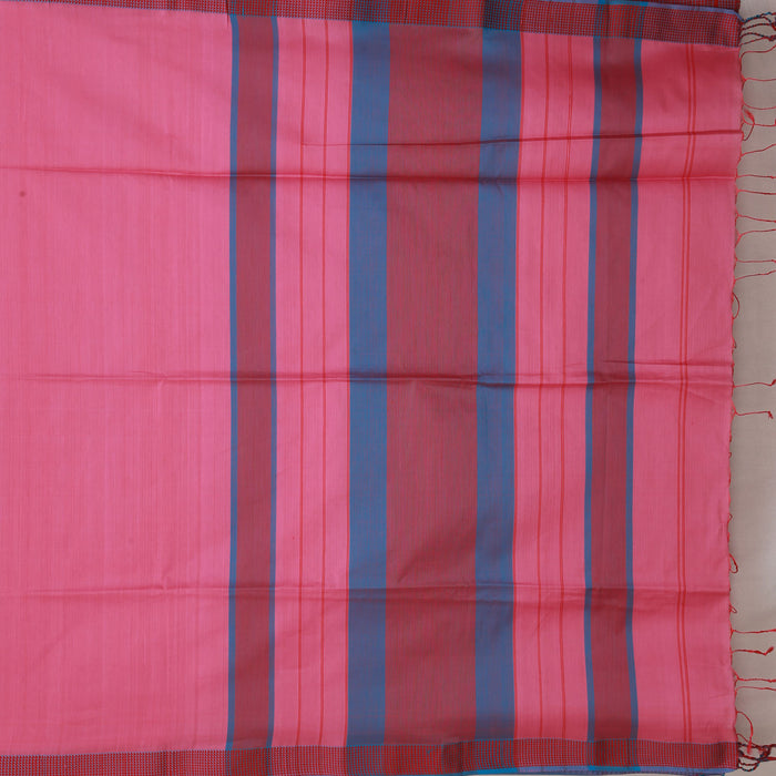 Sarangi Handwoven Maheshwari Silk-Cotton Saree - 1404994PIN