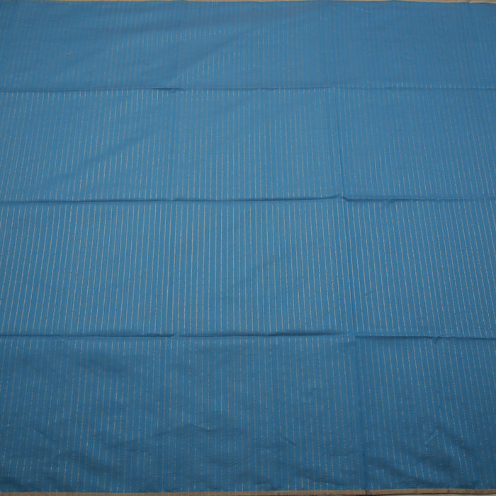 Sarangi Handwoven Maheshwari Silk-Cotton Saree - 1405000BLU