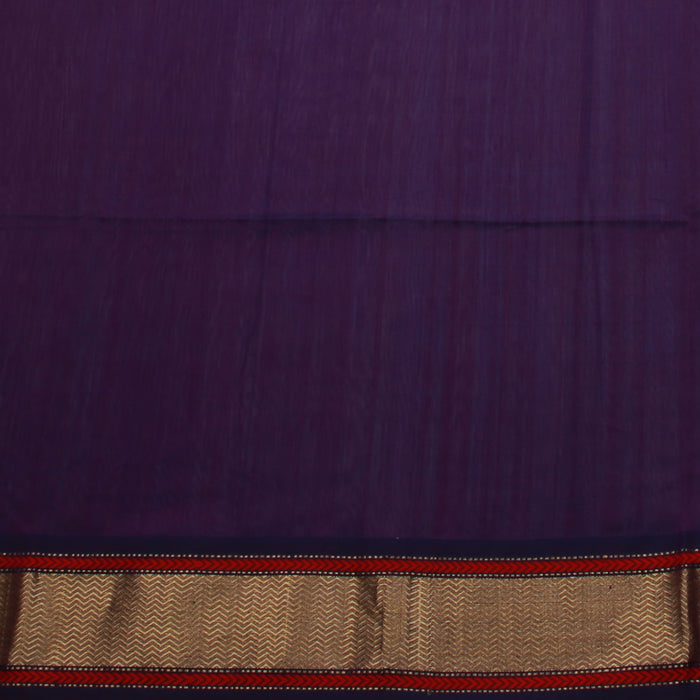Sarangi Handwoven Maheshwari Silk-Cotton Saree - 1405002VIO