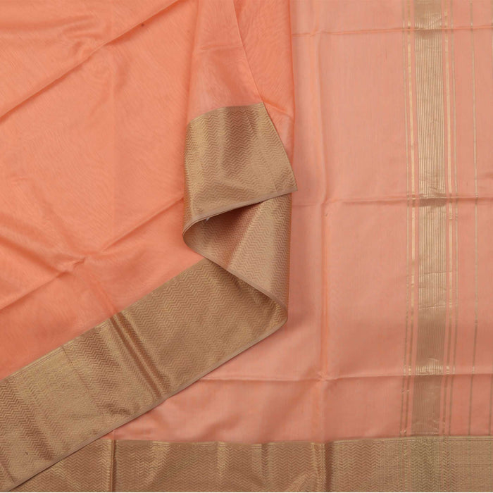 Sarangi Handwoven Maheshwari Silk-Cotton Saree - 1405096PEA