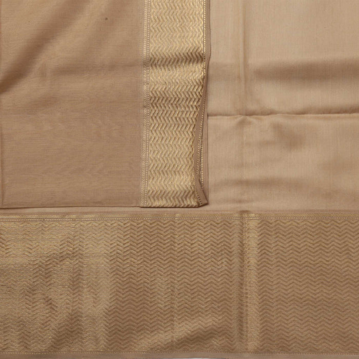 Sarangi Handwoven Maheshwari Silk-Cotton Saree - 1405097BRO