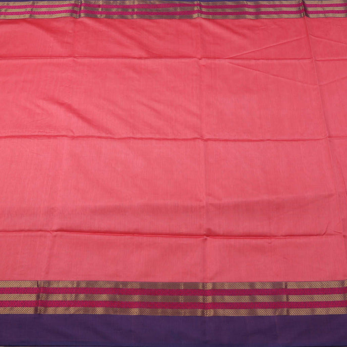 Sarangi Handwoven Maheshwari Silk-Cotton Saree - 1405099PIN