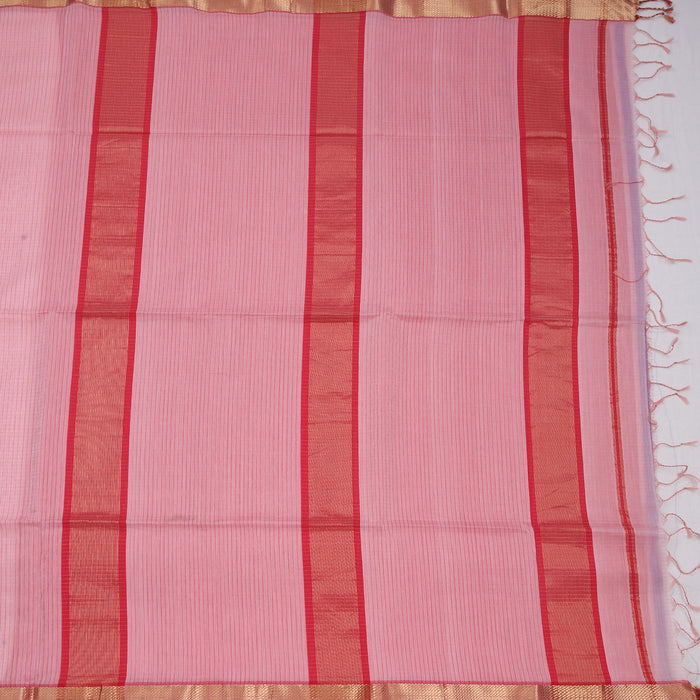 Sarangi Handwoven Maheshwari Silk-Cotton Saree - 1405229PIN