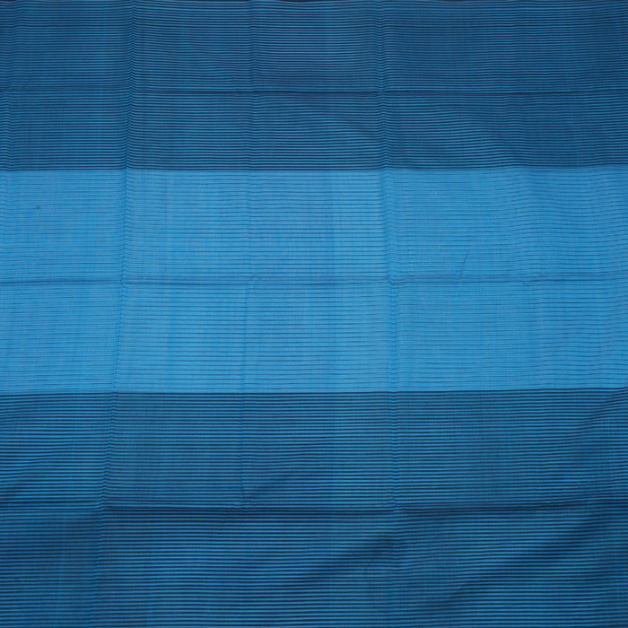 Sarangi Handwoven Maheshwari Silk-Cotton Saree - 1405236BLU