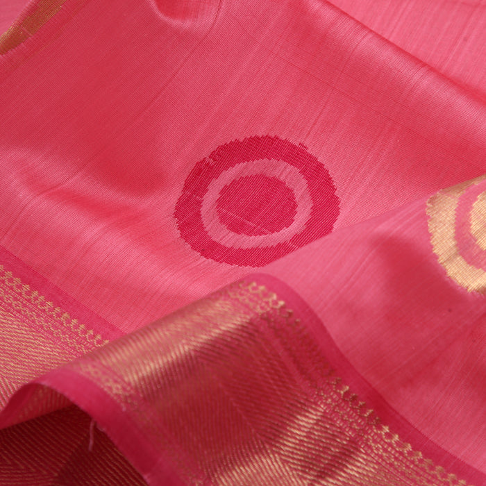 Sarangi Handwoven Maheshwari Silk-Cotton Saree - 1405250PIN