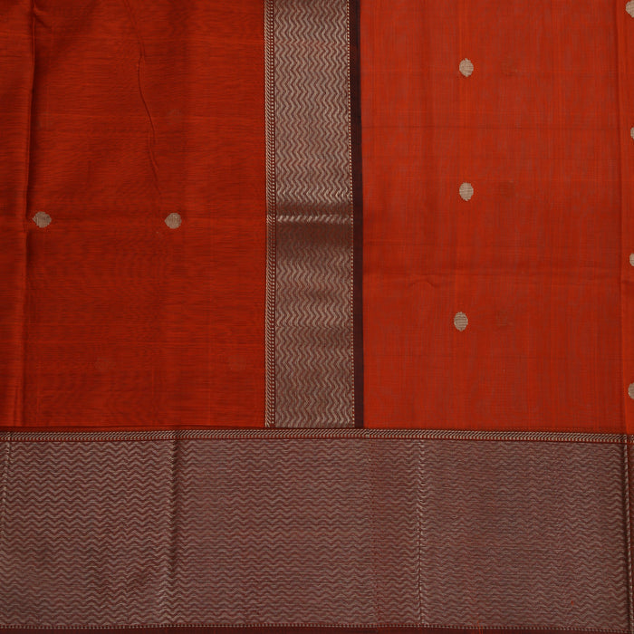 Sarangi Handwoven Maheshwari Silk-Cotton Saree - 1405252ORA