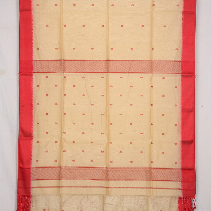 Sarangi Handwoven Maheshwari Silk-Cotton Saree - 1405263SAN
