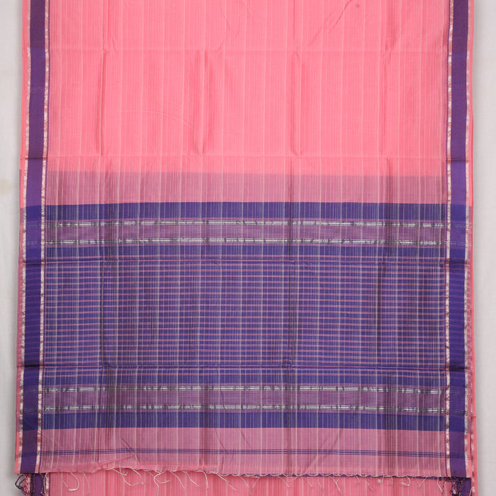 Sarangi Handwoven Maheshwari Silk-Cotton Saree - 1405268PIN