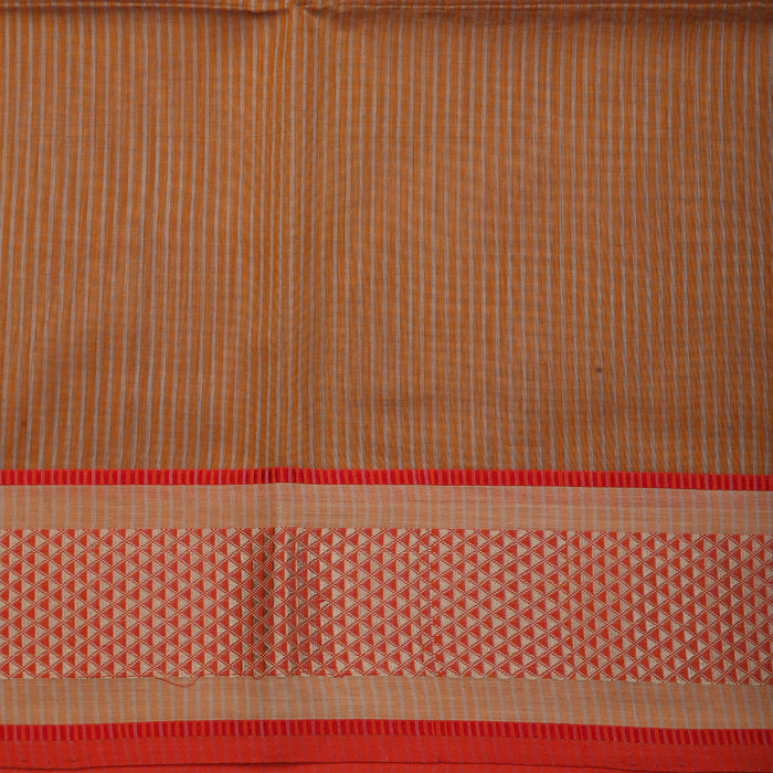 Sarangi Handwoven Maheshwari Silk-Cotton Saree - 1405281BRO