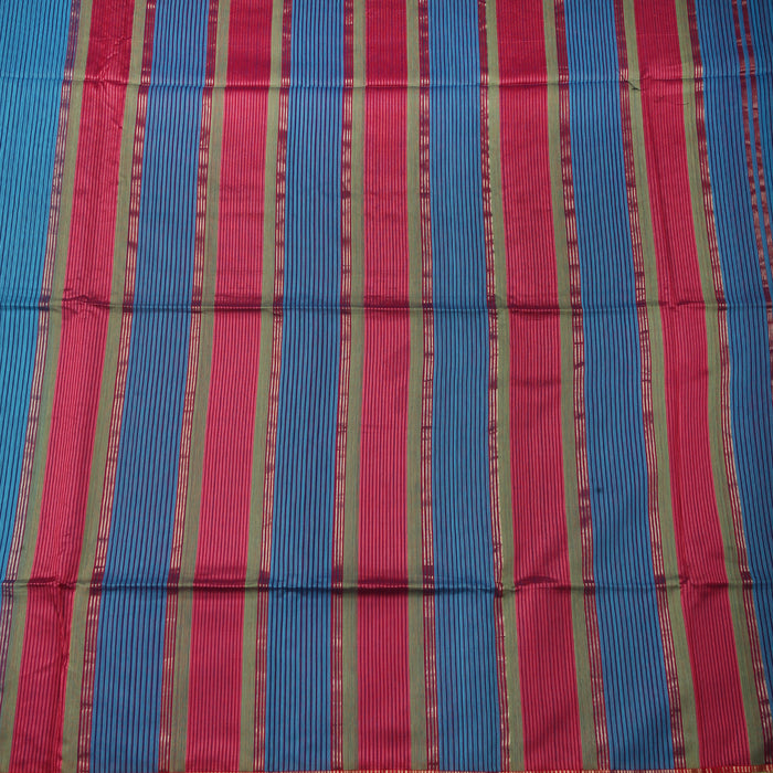 Sarangi Handwoven Maheshwari Silk-Cotton Saree - 1405283BLU