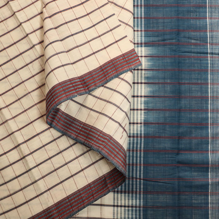 Gandhigram Handwoven Khadi Cotton Naturally Dyed Saree - 1415179OWH