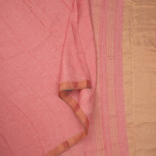 Sarangi Handwoven Linen Saree - 1423962PIN