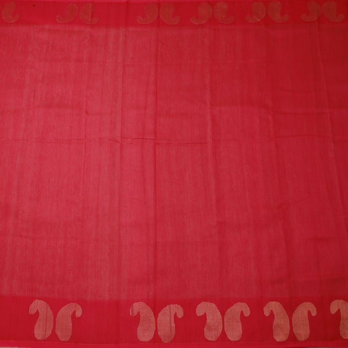 Sarangi Handwoven Linen-Silk Saree - 1425480PIN