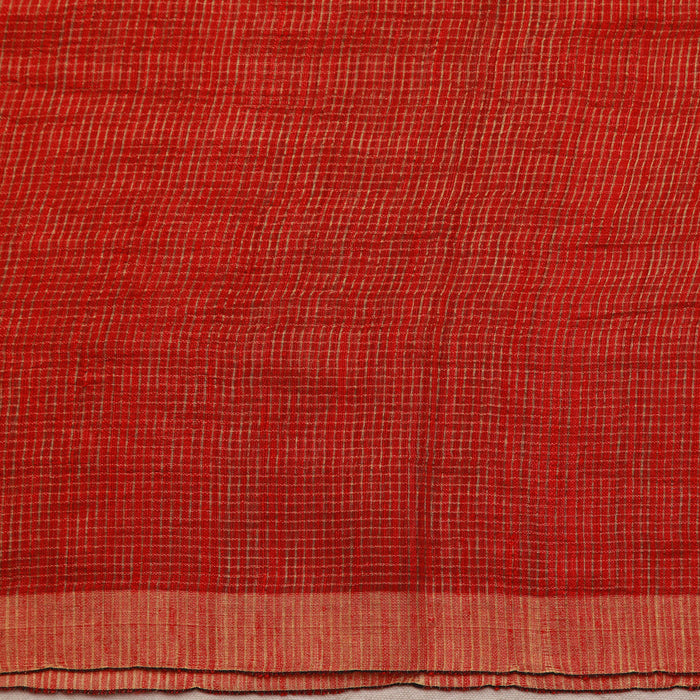 Sarangi Handwoven Matka Silk Saree - 1444969RED
