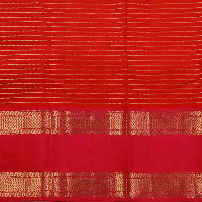 Sarangi Handwoven Kanjivaram Silk Saree - 1445070RED