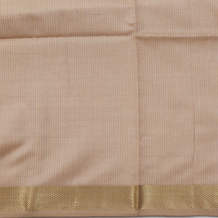 Sarangi Handwoven Maheshwari Silk-Cotton Saree - 1405087BRO