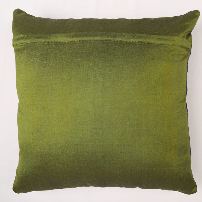 Sarangi x Kambli Studio : Patchwork Silk Cushion Cover - 1505385MUL
