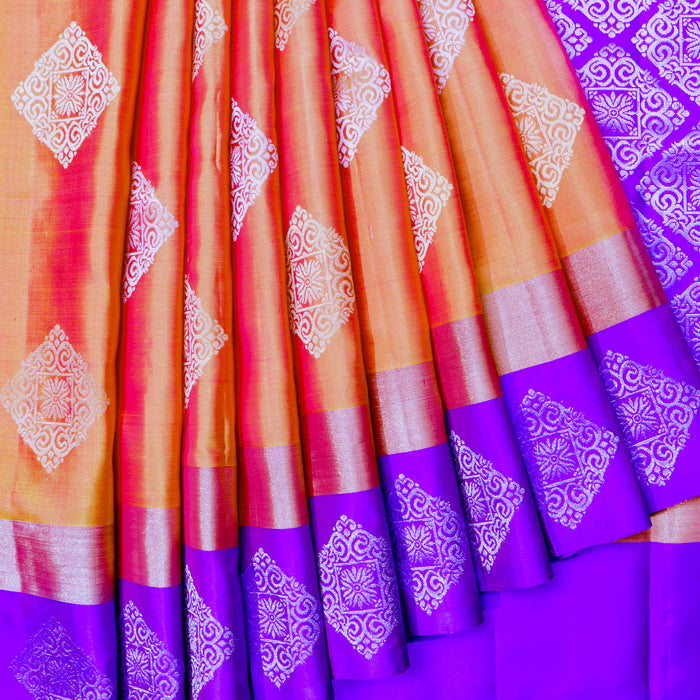 Handwoven Soft Silk Saree - 18 KMS1927