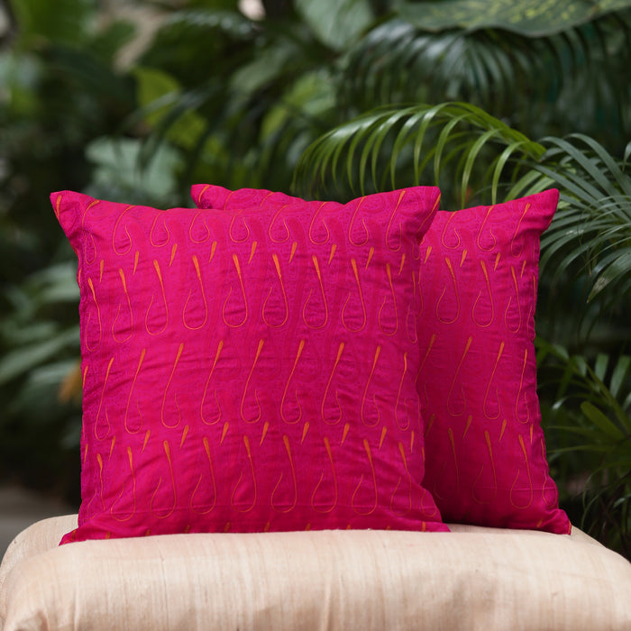Sarangi Handwoven Embroidered Cushion Cover - 1505375PIN